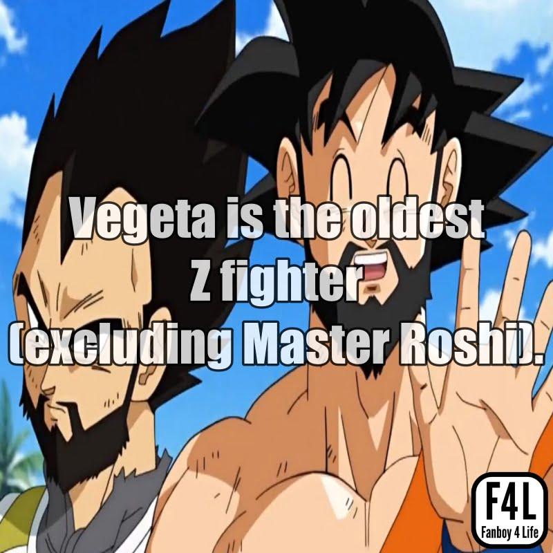 Vegeta and Goku with beards