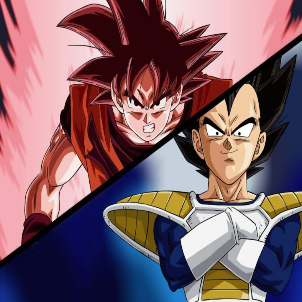 Goku and Vegeta during their first fight