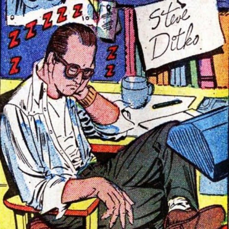 Steve Ditko sleeping