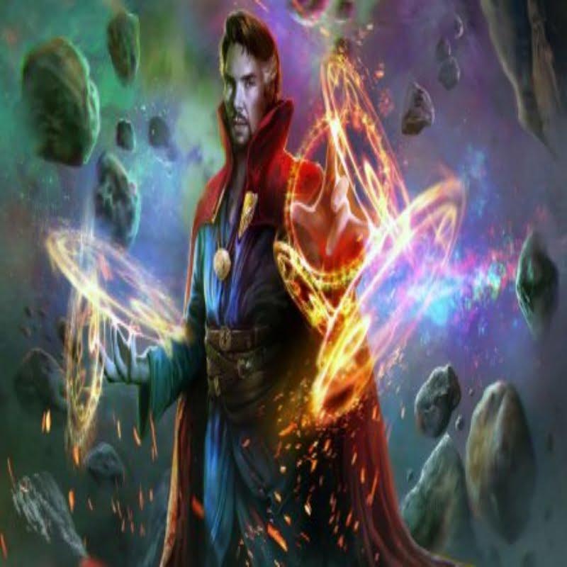 Doctor Strange showing his skills