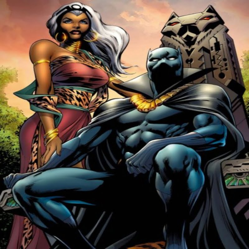 Black Panther with Storm