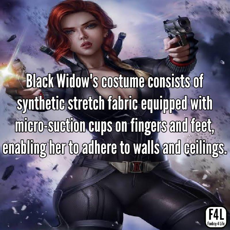 Black Widow shooting with two guns