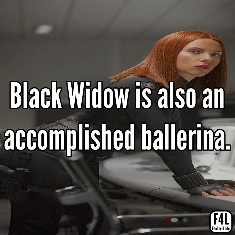 Black Widow is a ballerina