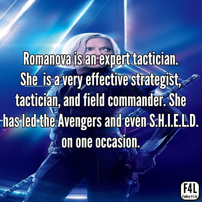 Black Widow is an expert tactician