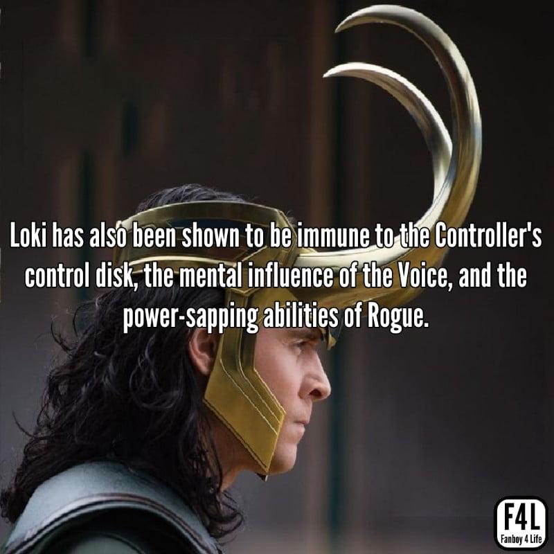 Loki wearing his helmet