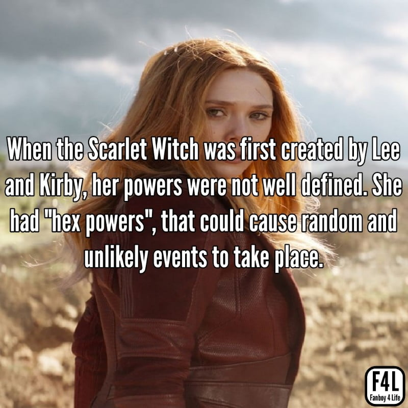 Scarlet Witch posing