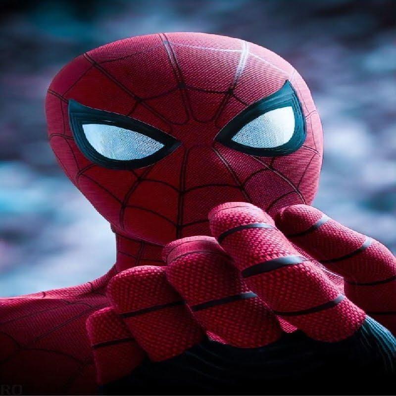 Spider-Man posing