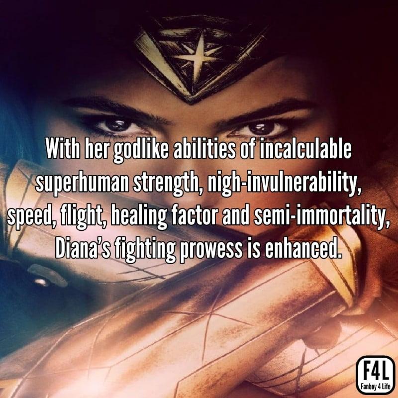 Wonder Woman godlike abilities