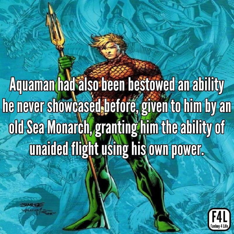 Aquaman posing