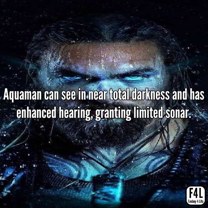 Aquaman with glowing eyes