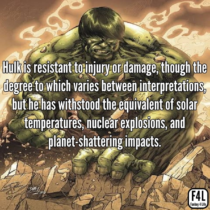 Hulk posing