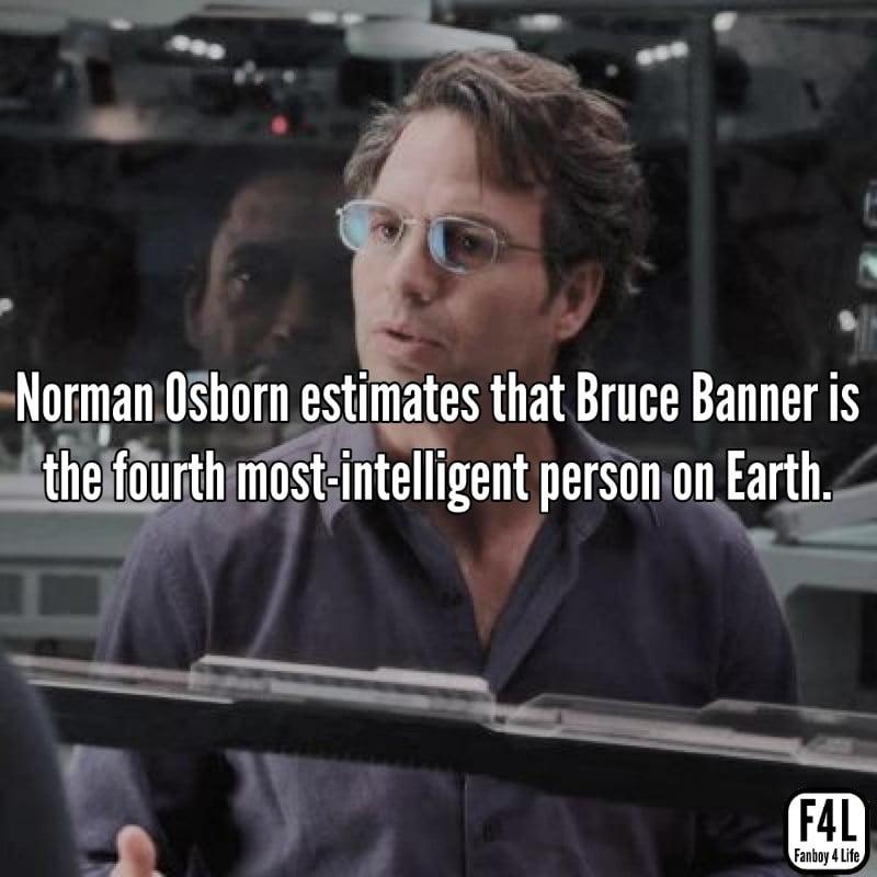 Bruce Banner posing