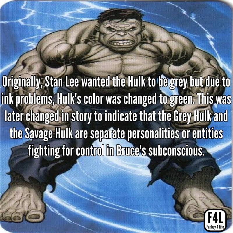 Grey Hulk posing