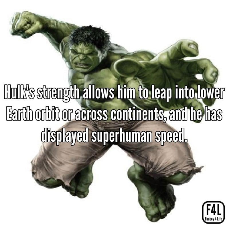 Hulk jumping