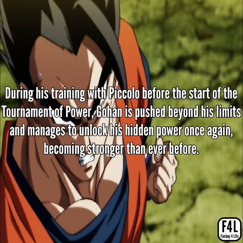 Gohan at the Tournament of Power