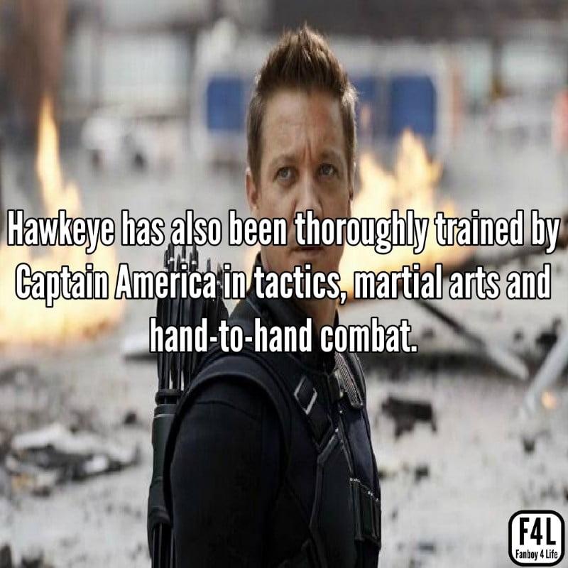 Hawkeye posing