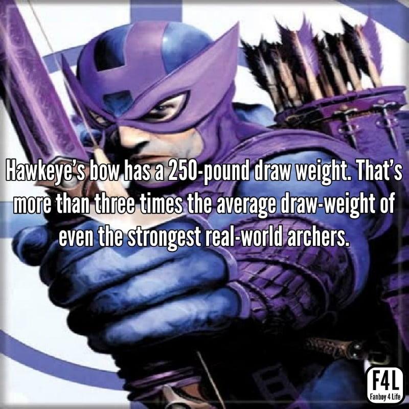 Hawkeye posing with Bow